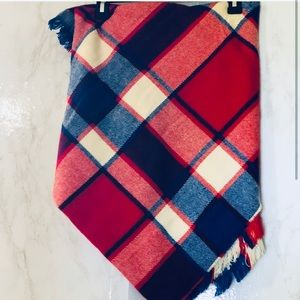 bp NWT Red white and blue wrap/ scarf
